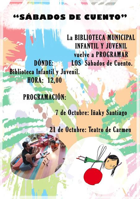 Cartel Sábados de Cuento Octubre Lorca