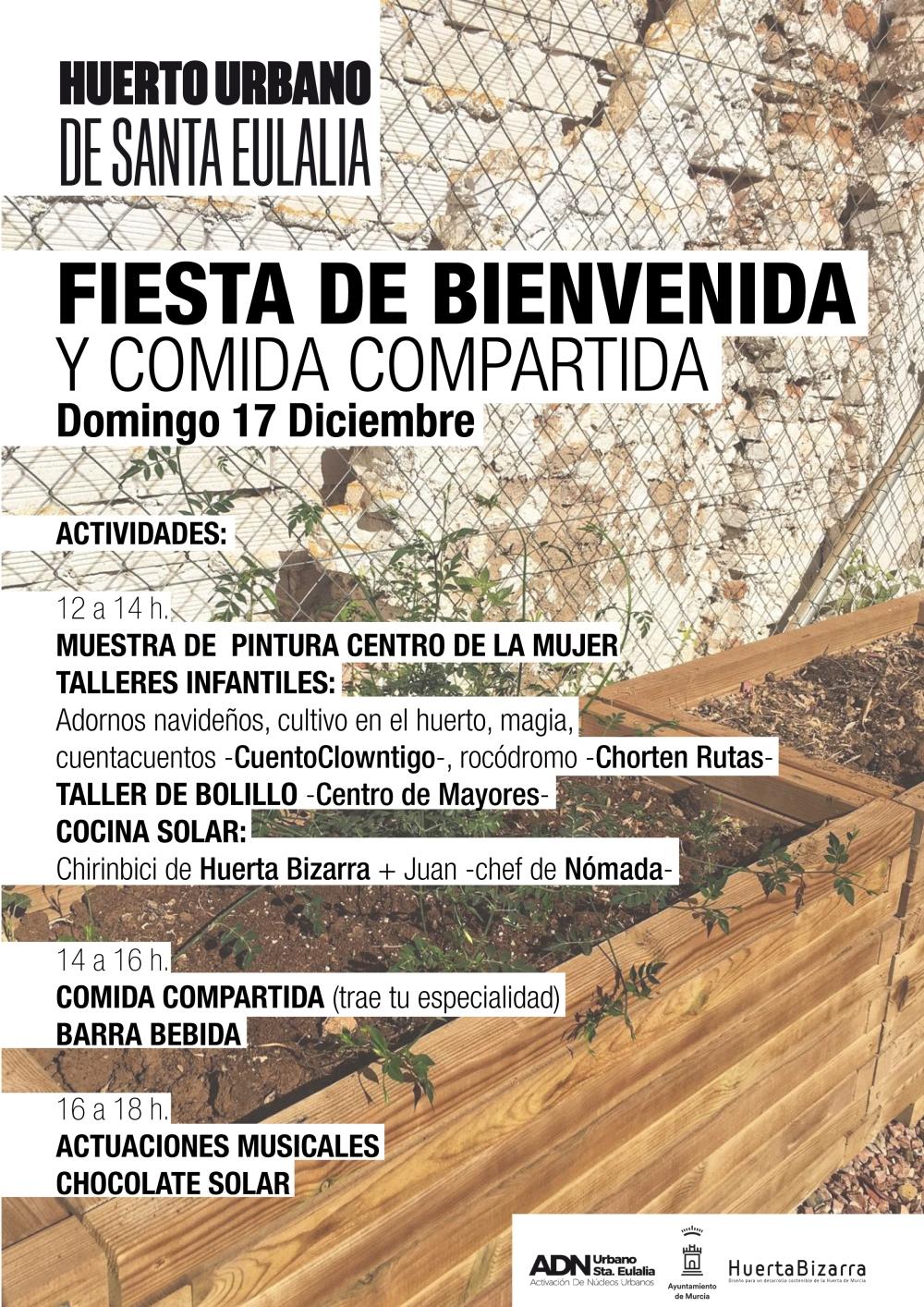 cartel comida inaugural Santa Eulalia